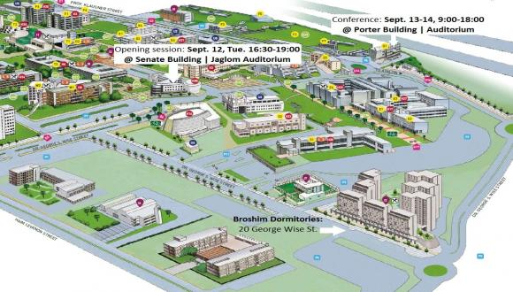 tel aviv university campus map Venue City Center Tau Research Center Br For Cities And tel aviv university campus map
